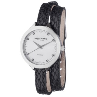 Stuhrling Original Women's Vogue Swiss Quartz Stainless Steel Crystal Accent Watch