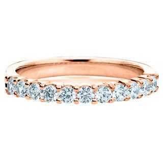 Amore 14k or 18k Rose Gold 1/2ct TDW Diamond Wedding Band