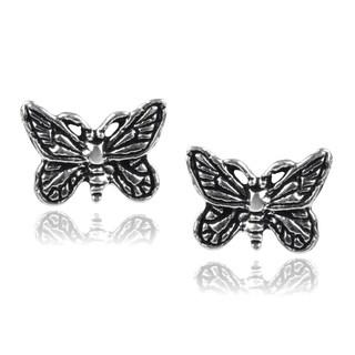 Journee Collection Sterling Silver Butterfly Stud Earrings
