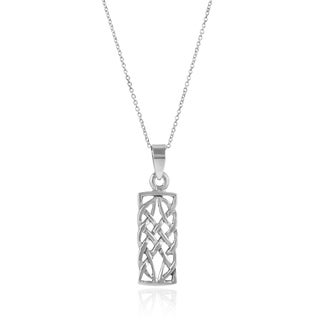 Journee Collection Sterling Silver Celtic Pendant