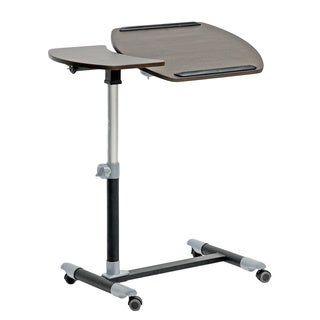 Baxton Studio Olsen Wood Wheeled Laptop Tray Table