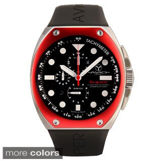 Avio Milano Men's Super Black Dial Chronograph Watch