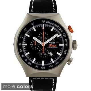Avio Milano Men's 50 MM Aluminum Chronograph Luminescent Stick Watch