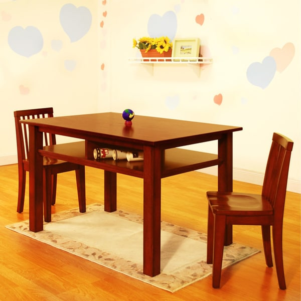 mikaila newton kids 39 table and chair set free shipping today 16951576. Black Bedroom Furniture Sets. Home Design Ideas