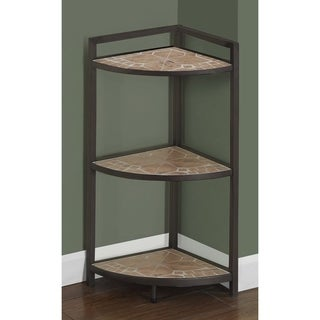 Terracotta Tile Top/ Hammered Brown 30-inch Corner Etagere