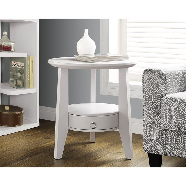 Shop Dia 23 Inch White 1 Drawer Accent Table Free