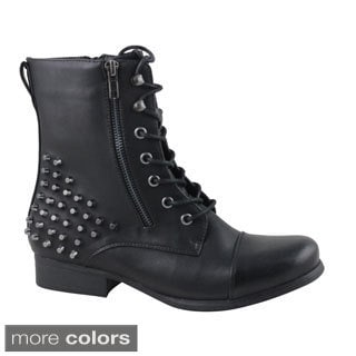 Celebrity NYC Women's Nala Studded Combat Boots