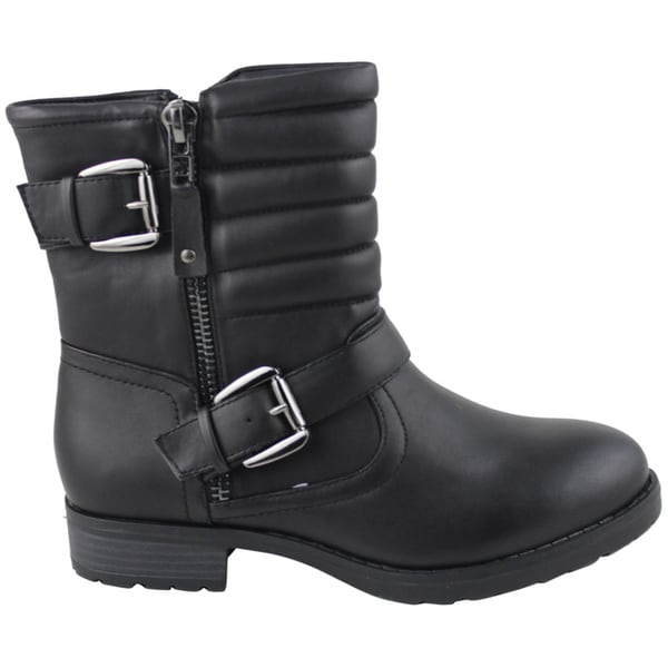 6c2e2fa617b93 Shop Celebrity NYC Women s Beth Leather Ankle Boot - Free Shipping Today -  Overstock.com - 9782855