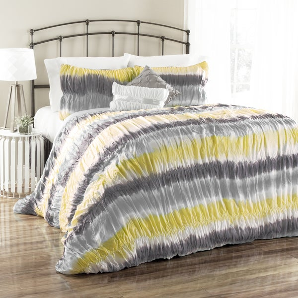 Lush Decor Bloomfield Tie Dye 5-Piece Comforter Set