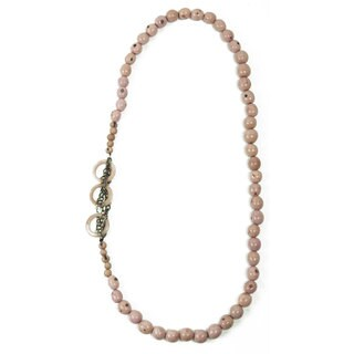 Handmade Sugar Pink Circle Chain Necklace (Ecuador)