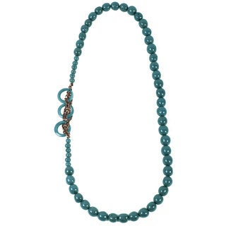 Teal Circle Chain Necklace (Ecuador)