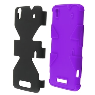 INSTEN Dynamic Soft Silicone/ Hard Plastic Hybrid Rubberized Snap-on Phone Case Cover For ZTE Max N9520
