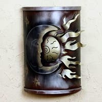 Handcrafted Iron 'Eclipse of the Sun' Wall Lamp (Mexico)