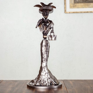Auto Parts 'Rustic Catrina II' Sculpture (Mexico)