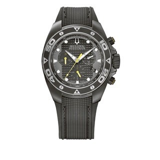 Bulova Accutron Men's 65B139 Black Swiss Chronograph Watch