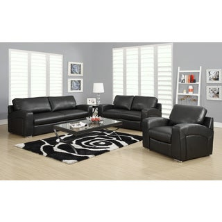 Black Bonded Leather / Match Sofa