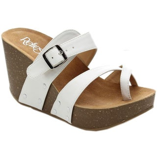 Refresh MARA-01 Women's Slide-on Criss Cross Platform Wedge Sandals