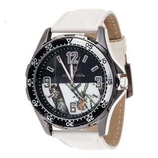 Mossy Oak Men's Analog All Terrain Field Officially Infinity b Frontier White Watch