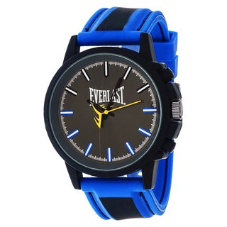Everlast Sport Men's Analog Round Watch with Blue Rubber Strap