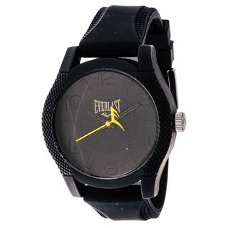 Everlast Sport Men's Dialog Round Watch with Black Rubber Strap