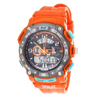 Everlast Diverse Sport Men's Dialog Round Watch with Orange Rubber Strap