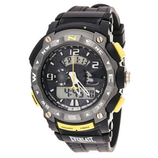 Everlast Diver Sport Men's Dialog Round Watch with Black Rubber Strap