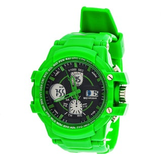 Everlast Sport Men's Analog Digital Round Watch with Green Rubber Strap