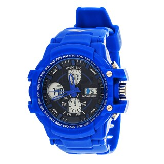 Everlast Sport Men's Analog Digital Round Watch with Blue Rubber Strap