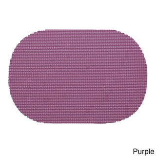Oval Fishnet Placemat (Set of 12) (Option: Purple)