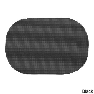 Oval Fishnet Placemat (Set of 12) (Option: Black)