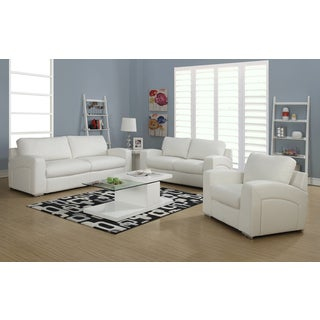 White Bonded Leather / Match Chair