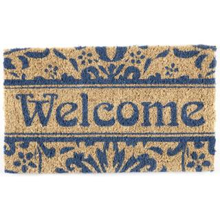 Hand-woven Damask Welcome Coconut Fiber Doormat