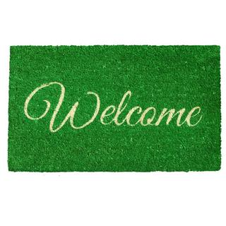 Green Welcome Doormat (1'5 x 2'5)