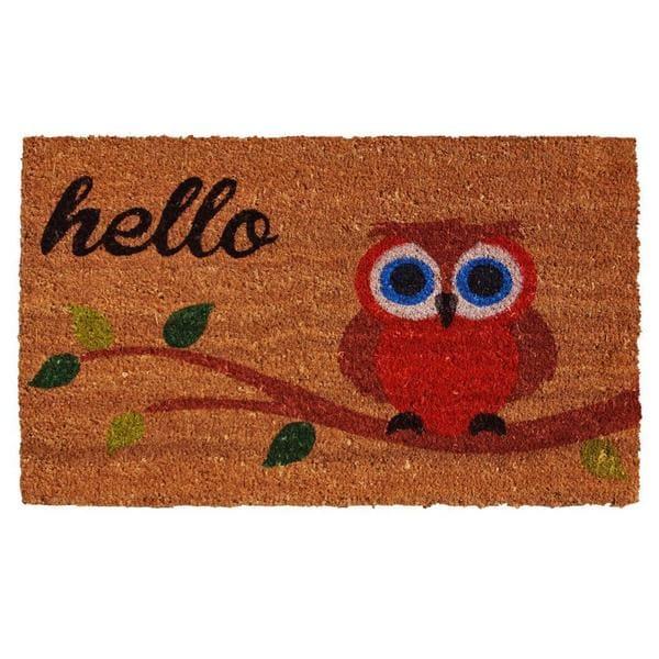 Shop Owl Hello Doormat 1 5 X 2 5 Free Shipping On