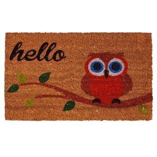 Owl Hello Doormat (1'5 x 2'5)
