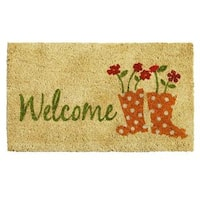 Rainboots Welcome Doormat (1'5 x 2'5)