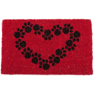Hand-woven Heart and Soles Coconut Fiber Doormat