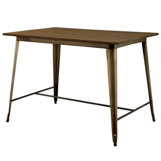 Furniture of America Tripton Industrial Counter Height Dining Table