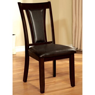 Furniture of America Dionne Dark Cherry Dining Chair (Set of 2)