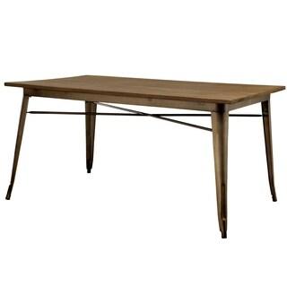 Furniture of America Tripton Industrial Dining Table