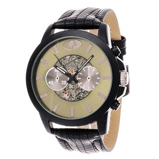 Mossy Oak Men's Analog Gun All Terrain Field Officially Infinity Frontier Green Watch