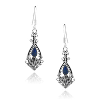 Journee Collection Sterling Silver Gemstone Dangle Earrings