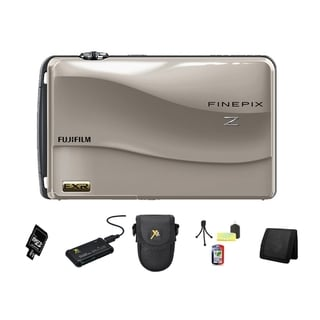 Fujifilm FinePix Z700EXR SIlver 12MP Digital Camera and 4GB SD Card Bundle