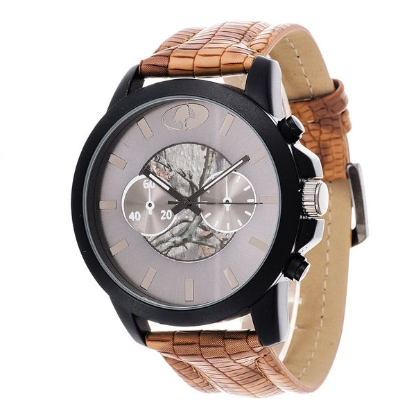 Mossy Oak Men's Analog Gun All Terrain Field Officially Infinity Frontier Brown Watch