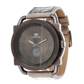 Mossy Oak Men's Analog All Terrain Field Officially Infinity Frontier Jumbo Grey Watch