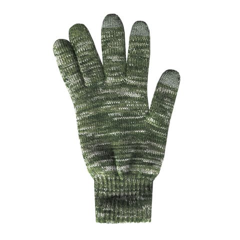 QuietWear 2-layer Brown Knit Glove with Texting Fingers