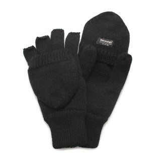 QuietWear Black Knit Flip Gloves (2 options available)