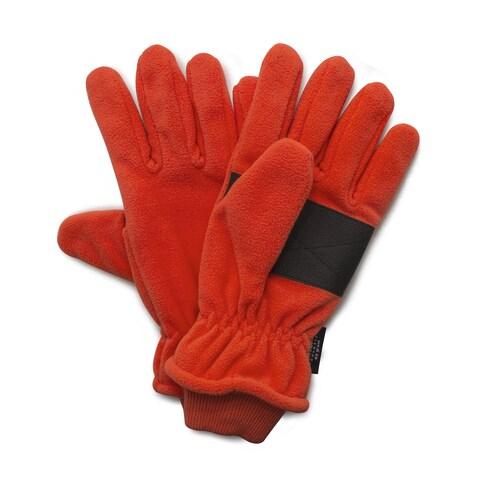 QuietWear Blaze Orange Insulated Fleece Glove with Cuff