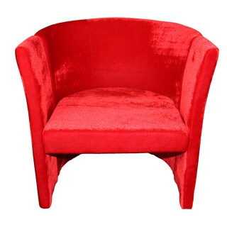 Red MicroFiber Folding Chair