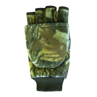 QuietWear Adventure Brown Insulated Fleece Flip Mitten